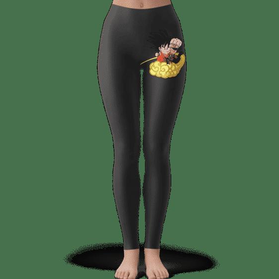 Dragon Ball Kid Goku Flying Nimbus Cool & Dope Dark Leggings