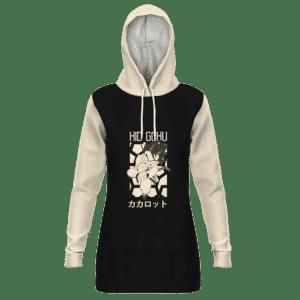 Dragon Ball Kid Goku Kamehameha Retro Style Art Hoodie Dress