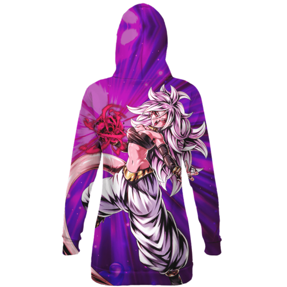 Dragon Ball Legends Evil Android 21 All Over Print Hoodie Dress