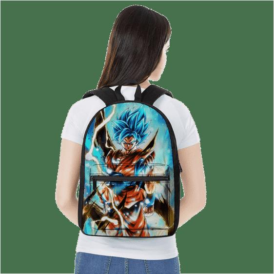 Dragon Ball Legends Son Goku Super Saiyan Blue Canvas Backpack