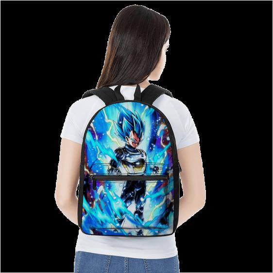 Dragon Ball Legends Vegeta SSGSS Awesome Blue Aura Backpack