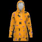 Dragon Ball Master Roshi Cosplay Pattern Pullover Hoodie Dress