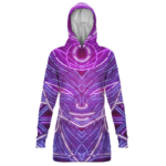 Dragon Ball Neon Frieza Trippy All Over Print Dope Hoodie Dress