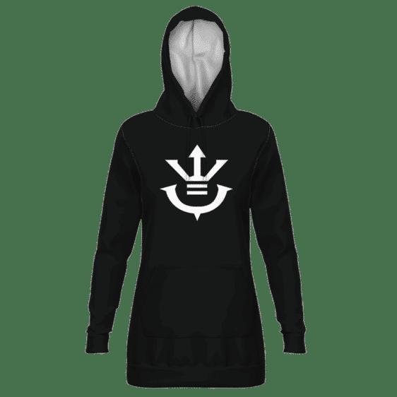 Dragon Ball Saiyan Royal Family Crest Black Hoodie Dress