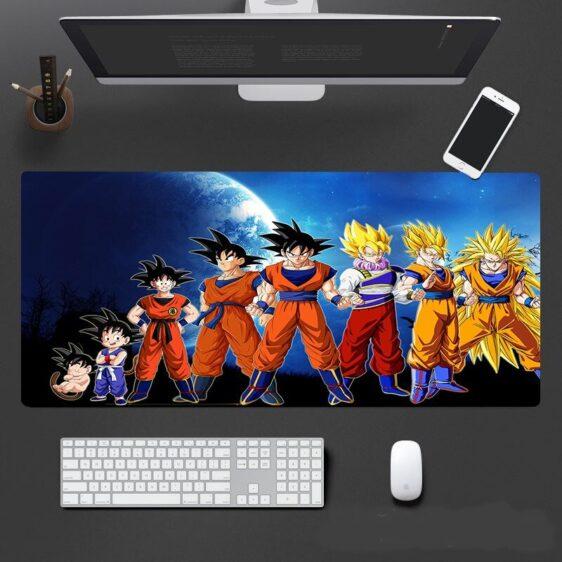 Dragon Ball Son Goku Saiyan Anime Evolution Mouse Pad