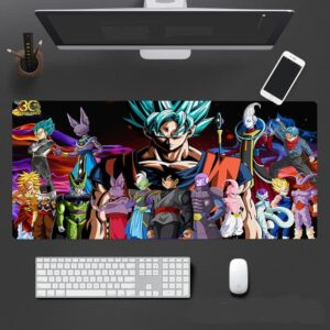 Dragon Ball Super Protagonists And Evil Enemies Mouse Pad