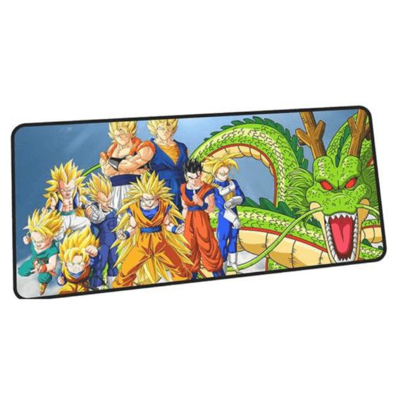 Dragon Ball Super Saiyans Goku Vegeta And Shenron Mouse Pad