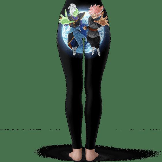 Dragon Ball Super Zamasu Goku Black Saiyan Rose Black Leggings