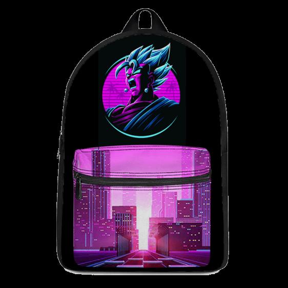 Dragon Ball Vegito Super Saiyan Blue Retro Canvas Backpack