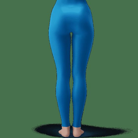 Dragon Ball Young Chi-Chi Galaxy Flower Cute Blue Leggings