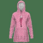 Dragon Ball Z Android 18 Cute Animal Print Pink Hoodie Dress