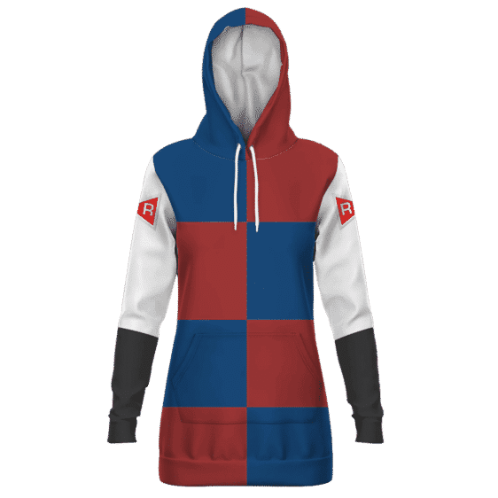 Dragon Ball Z Android 21 Red Ribbon Army Cosplay Hoodie Dress