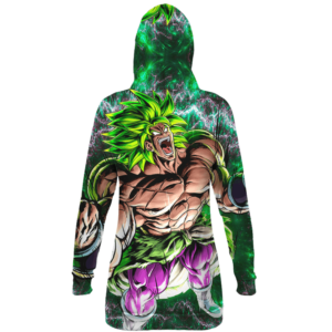 Dragon Ball Z Broly Charging Up Dope All Over Print Hoodie Dress