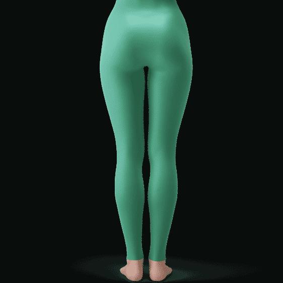 Dragon Ball Z Bulma Cute Charming Gorgeous Green Yoga Pants