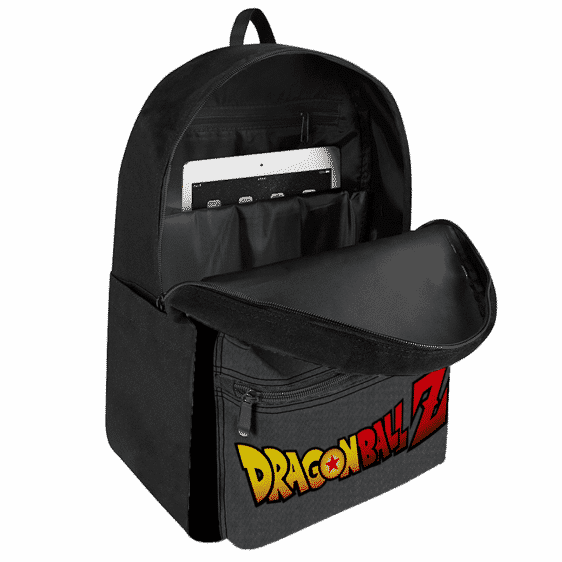 Dragon Ball Z Goku Black And White Emblem Canvas Backpack
