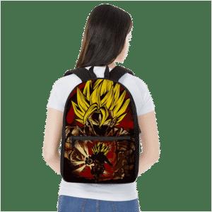 Dragon Ball Z Goku SSJ2 Kamehameha Red Art Backpack