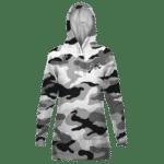 Dragon Ball Z Gray White Camouflage Majin Symbol Hoodie Dress