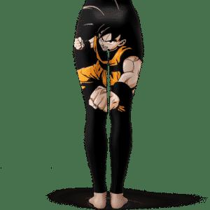 Dragon Ball Z Handsome Goku Dope Artwork Black Leggings
