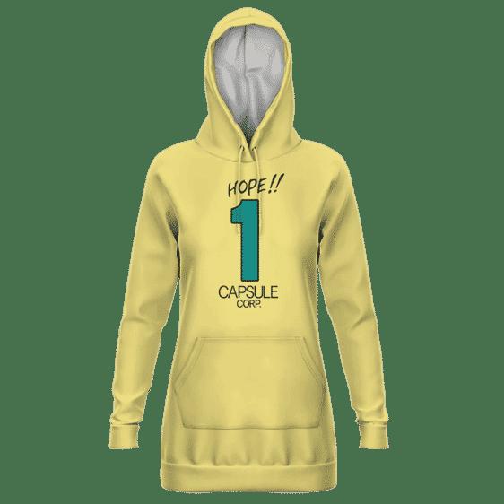 Dragon Ball Z Hope Capsule Corp Dope Yellow Hoodie Dress