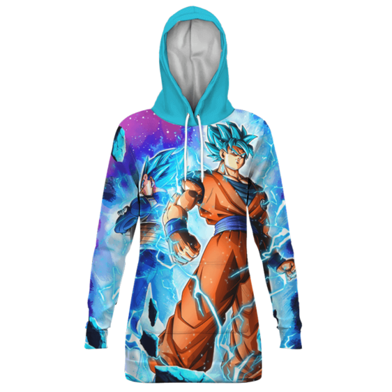 Dragon Ball Z Legendary Duo Goku Vegeta SSGSS Hoodie Dress