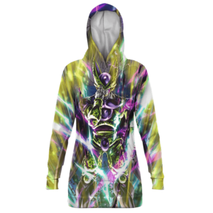 Dragon Ball Z Perfect Cell Cool Print Hoodie Dress