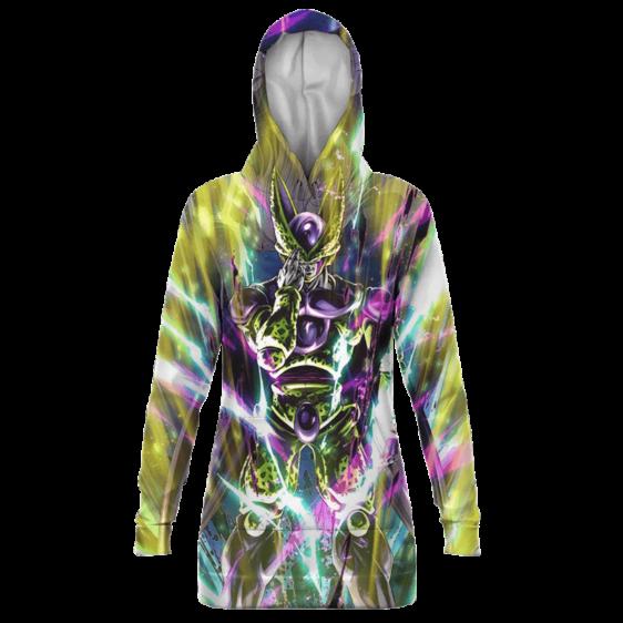 Dragon Ball Z Perfect Cell Cool Print Hoodie Dress