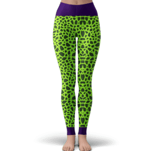 Dragon Ball Z Perfect Cell Pattern Cosplay Yoga Leggings