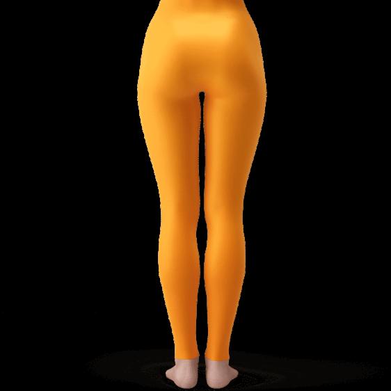 Dragon Ball Z Son Goku Punch Attack Awesome Orange Leggings
