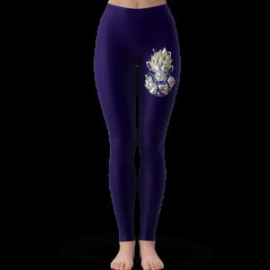 Dragon Ball Z Vegeta Colorful Logo Badge Dark Blue Yoga Pants