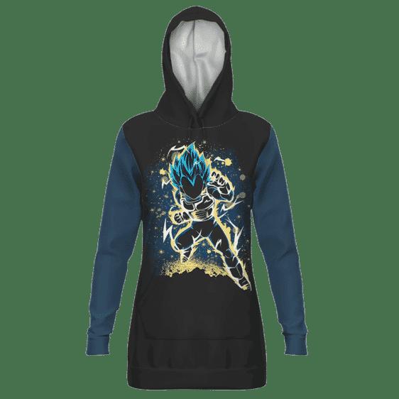 Dragon Ball Z Vegeta SSGSS Galactic Art Hoodie Dress