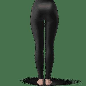 Dragon Ball Z Videl Long Hair Cute Elegant Black Leggings