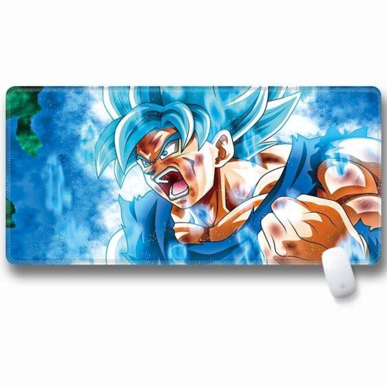 Enraged Goku Super Saiyan God Super Saiyan Desk Mouse Pad