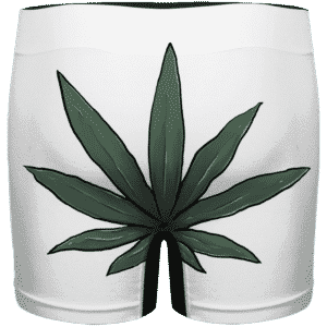 Funny Weed Smiley Art 420 Marijuana Men's White Underwear