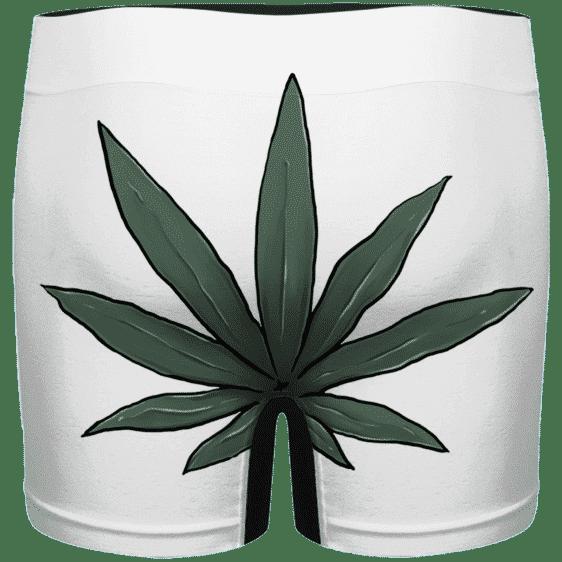 Funny Weed Smiley Art 420 Marijuana Men's White Underwear