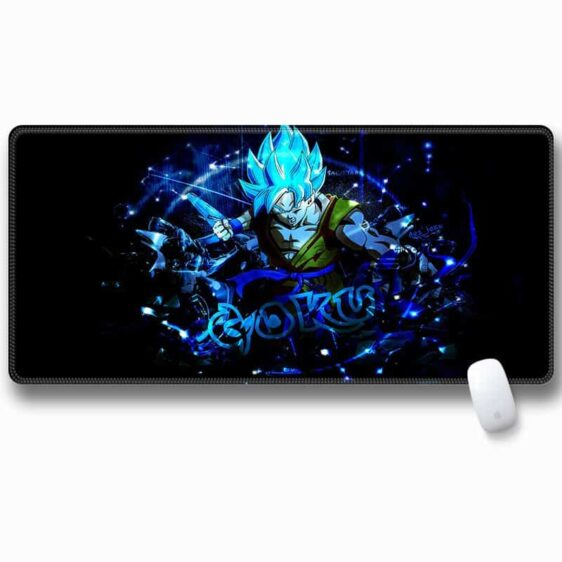Goku Blue Whis Symbol Training Suit Navy Blue Mouse Pad