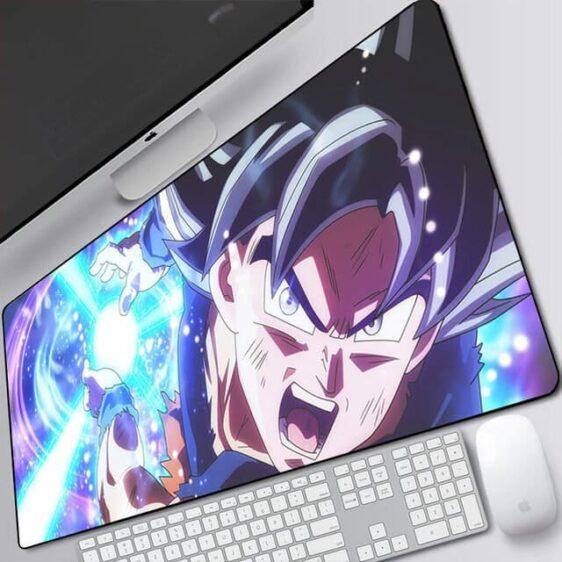 Goku Ultra Instinct Kamehameha Attack Extended Mouse Pad