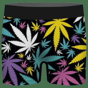 Hemp Doobie Ganja Colorful Patterns 420 Black Men's Brief