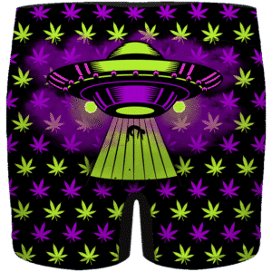 High as Hell Alien Abduction Art 420 Marijuana Men's Boxer
