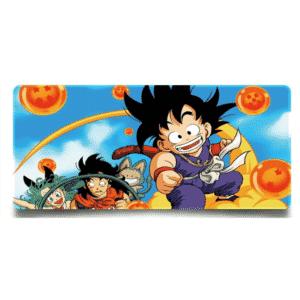Kid Goku Nimbus Cloud With Bulma & Yamcha Non-Slip Mouse Pad