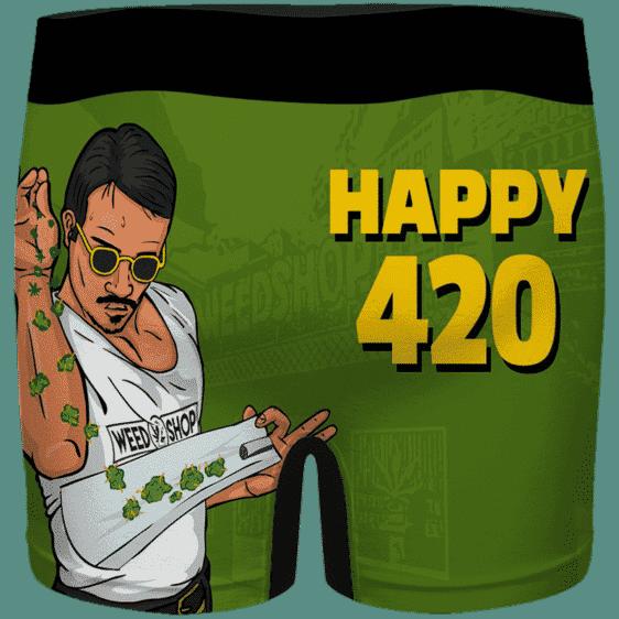 Kush Bae Action Happy 420 Marijuana Green Men's Underwear