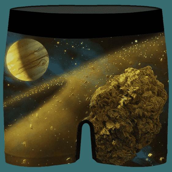Kush Galaxy Asteroid Weed Nug 420 Marijuana Men's Underwear