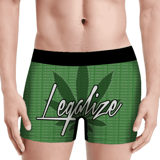 Legalize Marijuana Movement Pattern Green Men's Underwear