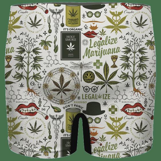 Legalize Marijuana Seamless Pattern Dope Art Men's Brief