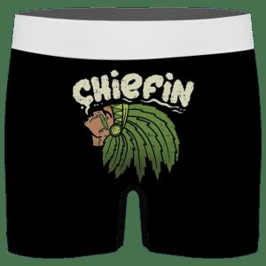 Marijuana Chieftain Smoking Weed Awesome Men's Brief