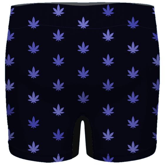 Marijuana Cool And Awesome Pattern Navy Blue Men's Boxer