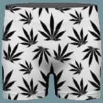 Marijuana Cool White Black Pattern Elegant Men's Underwear