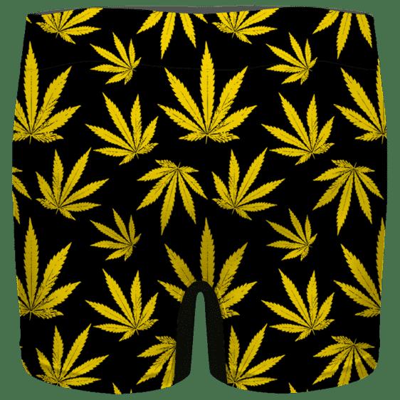 Marijuana Cool Yellow Black Pattern Awesome Men's Boxer Brief