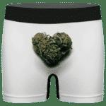 Marijuana Heart Shaped Cute And Lovely Men's Underwear