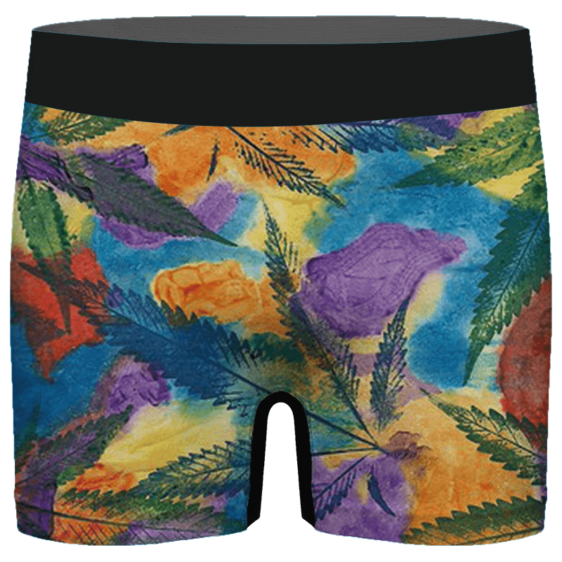 Marijuana Leaf Water Coloured Inspired Majestic Men's Boxer