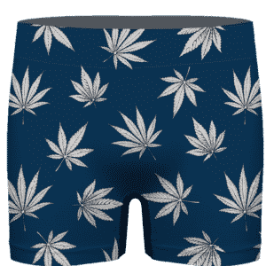 Marijuana Leaves Cool All Over Print Dark Navy Blue Men's Brief